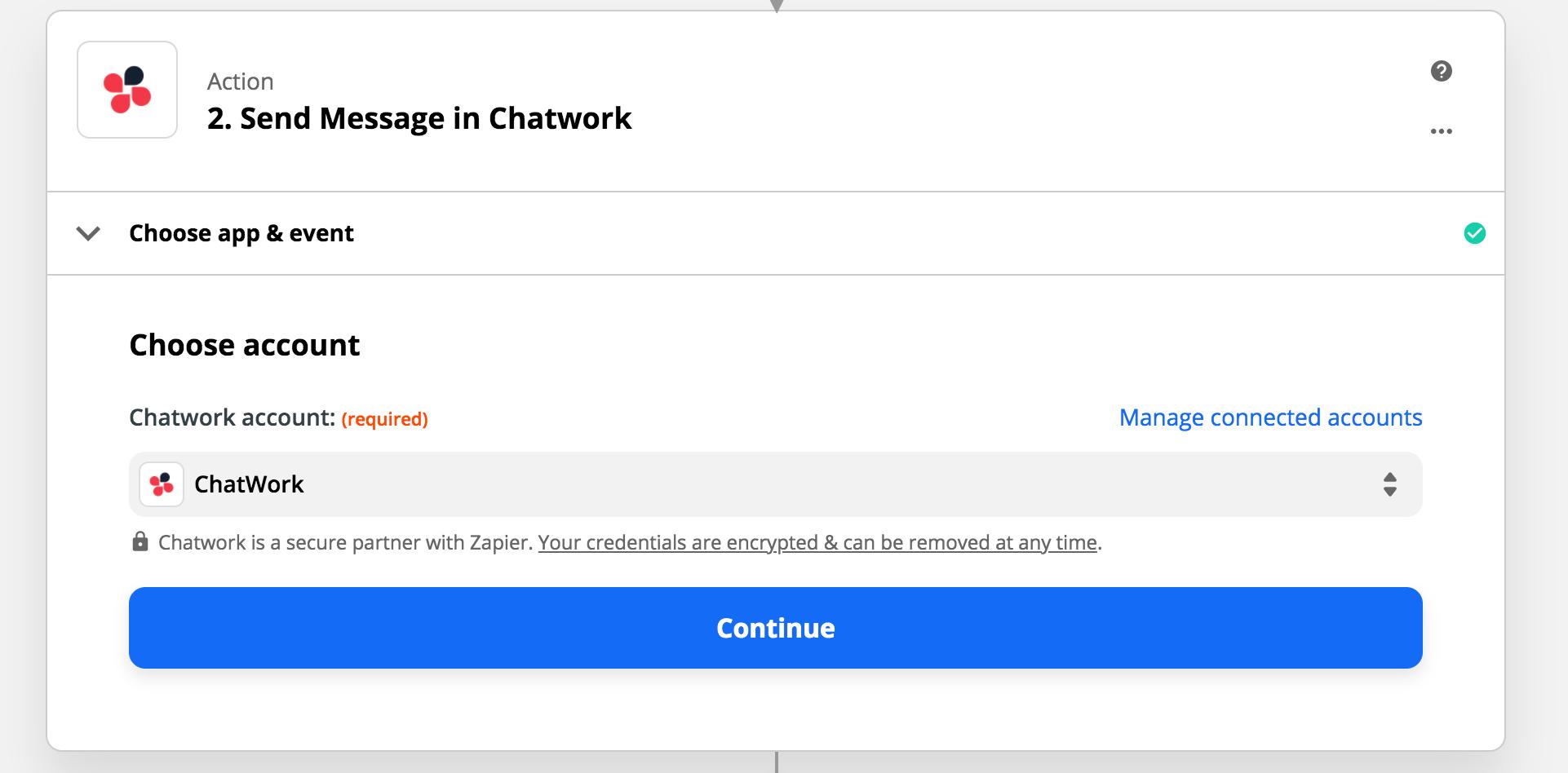 zapier chatwork